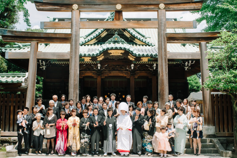 持ち込み 結婚式場 集合写真 牛嶋神社