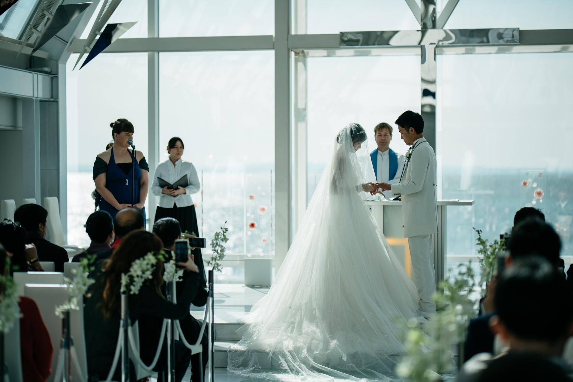 シェラトングランデ東京ベイ 結婚式 指輪交換