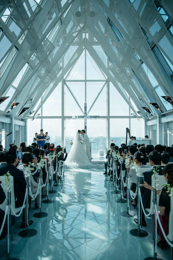 シェラトングランデ東京ベイ 結婚式 キス