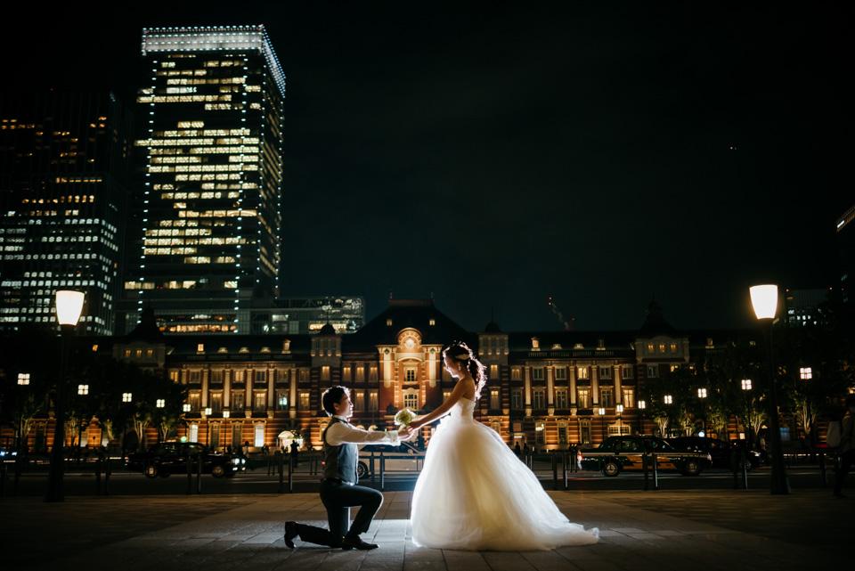 後撮り 夜景 東京駅