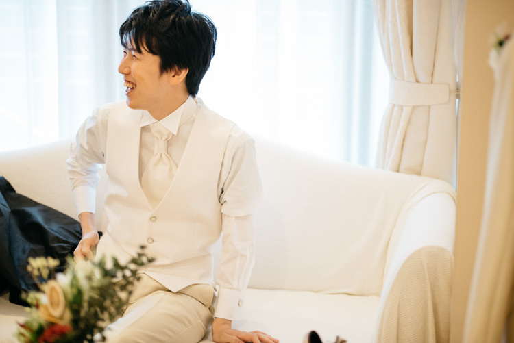 青山エリュシオンハウス 結婚式の外注持ち込みカメラマン 新郎
