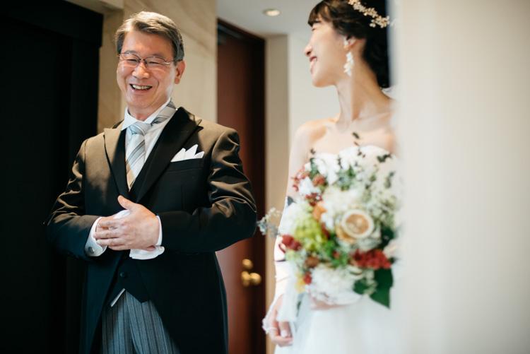 青山エリュシオンハウス 結婚式の外注持ち込みカメラマン 父と娘