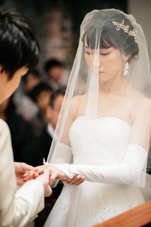 青山エリュシオンハウス 結婚式の外注持ち込みカメラマン 指輪の交換