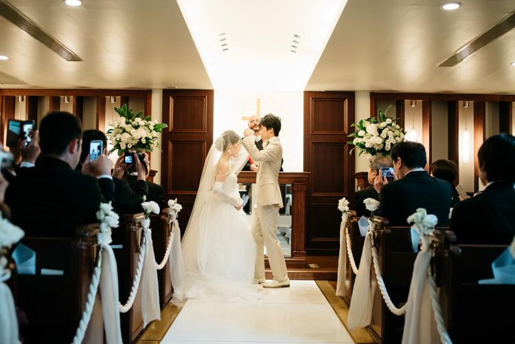 青山エリュシオンハウス 結婚式の外注持ち込みカメラマン ベールアップ