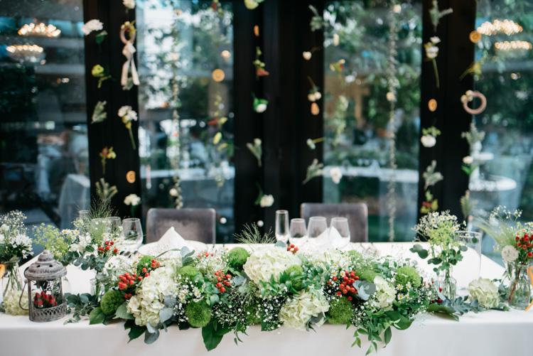 青山エリュシオンハウス 結婚式の外注持ち込みカメラマン メイン装花