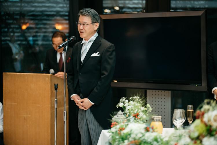 青山エリュシオンハウス 結婚式の外注持ち込みカメラマン 父のスピーチ