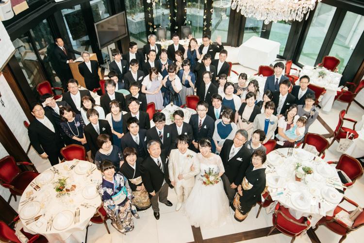 青山エリュシオンハウス 結婚式の外注持ち込みカメラマン 集合写真