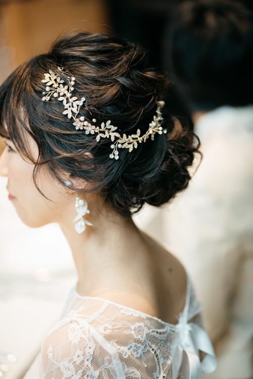 青山エリュシオンハウス 結婚式の外注持ち込みカメラマン 新婦髪型
