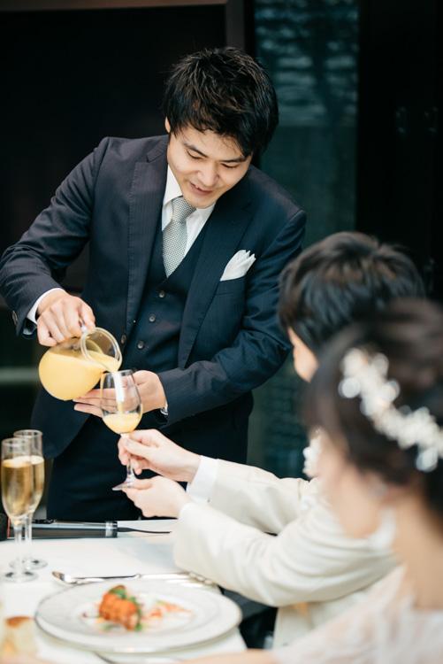 青山エリュシオンハウス 結婚式の外注持ち込みカメラマン オレンジジュース