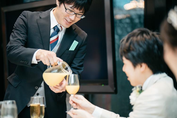 青山エリュシオンハウス 結婚式の外注持ち込みカメラマン オレンジジュース3