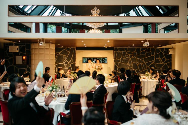 青山エリュシオンハウス 結婚式の外注持ち込みカメラマン 再入場