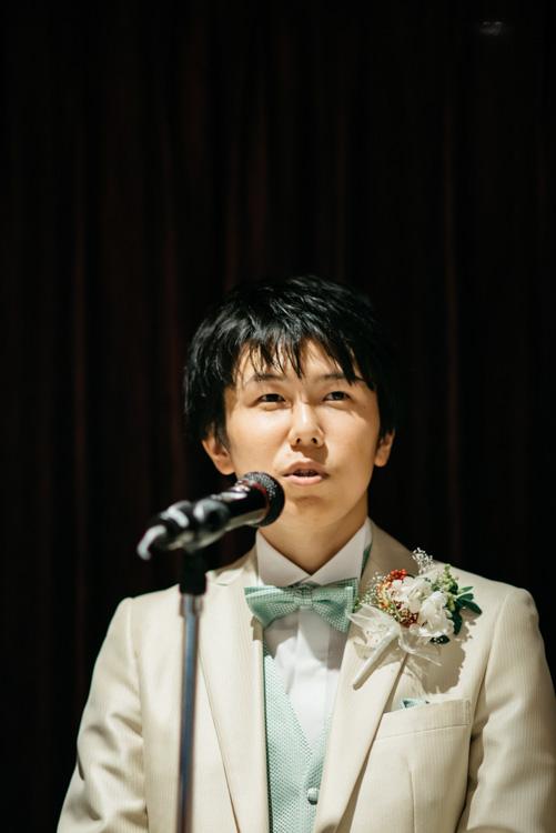 青山エリュシオンハウス 結婚式の外注持ち込みカメラマン 新郎謝辞