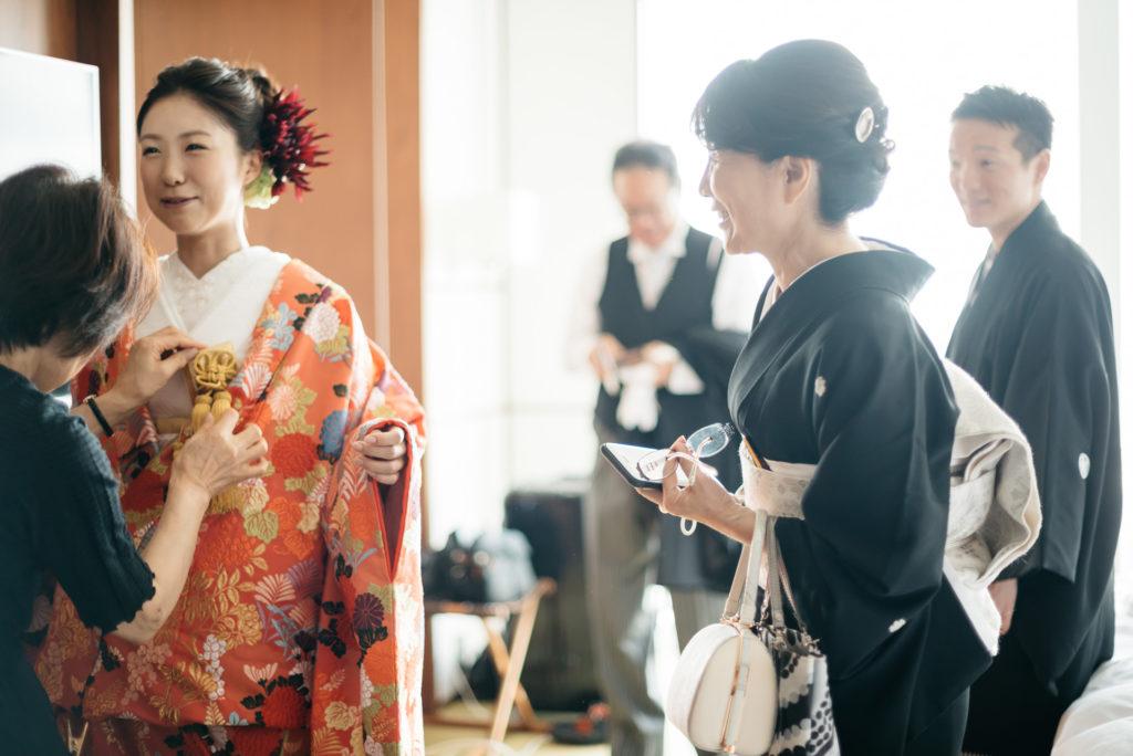 結婚式の写真撮影 アンダーズ東京 お支度