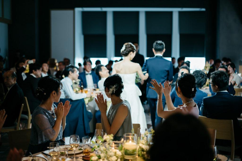 結婚式の写真撮影 アンダーズ東京 入場 披露宴
