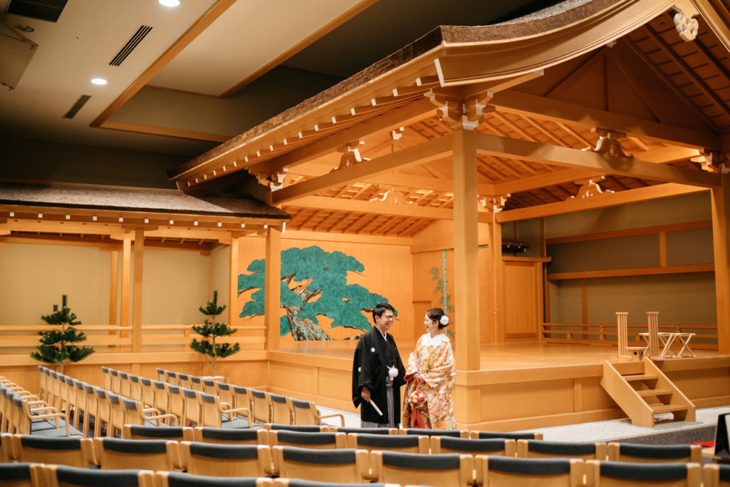 セルリアンタワー 渋谷 結婚式 持ち込みカメラマン 能楽堂