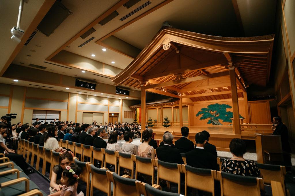 セルリアンタワー 渋谷 結婚式 持ち込みカメラマン 能楽堂 挙式前