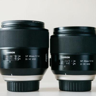 【TAMRONレンズレビュー】タムロン単焦点SP35mmF/1.8、SP85mmF/1.8レンズレビュー