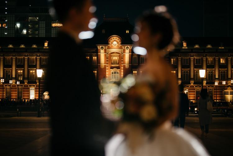 東京駅丸の内ウェディングドレス前撮り(フォトウェディング))
