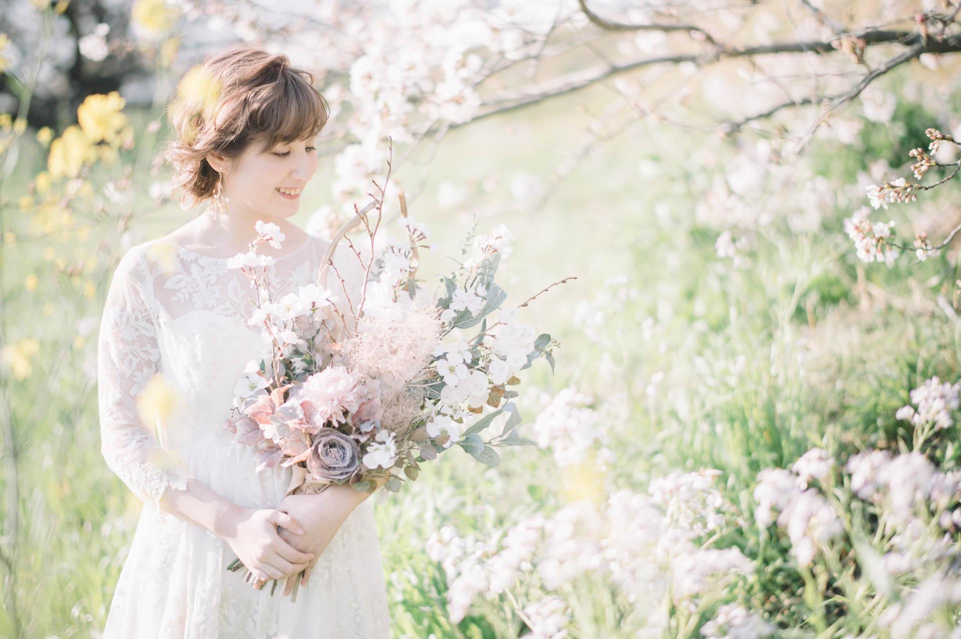 ウェディングドレス 前撮り ロケーションフォト東京 Fika and Fotos フィーカアンドフォトズ